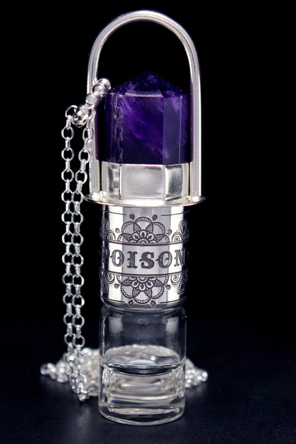 Amethyst Rollerball Necklace