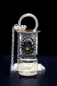 Gemstone Moldavite Mini Rollerball Necklace