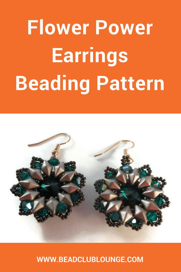 The Flower Power Earrings Beading Pattern shows you how to make these stunning reversible beaded earrings—a party in the front and the back!