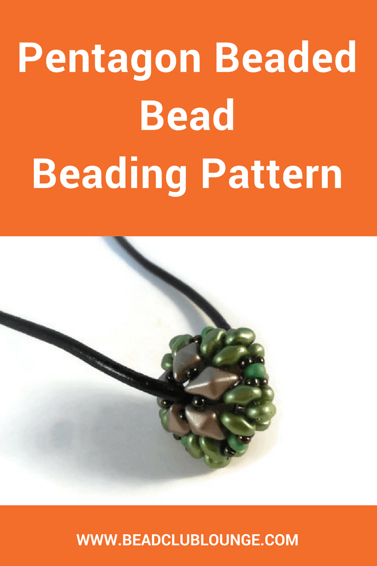 Take your creativity to the ultimate peak when you create your own beaded jewelry using the Pentagon Beaded Bead beading pattern.
