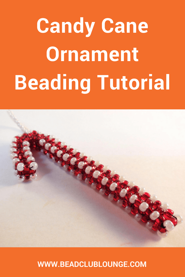 Make your own beaded Christmas ornaments with this Candy Cane Ornament beading tutorial. Add them to your Holiday decor and hang them on your tree.