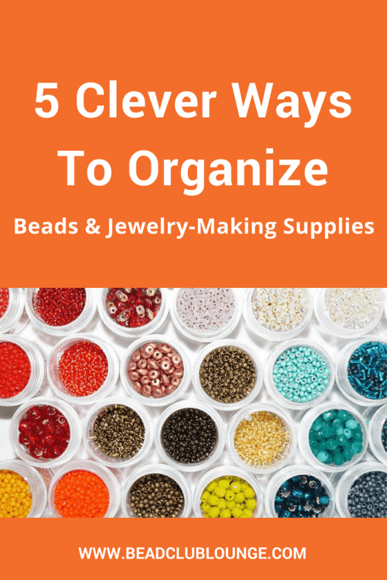 If you struggle to find your beading supplies because they're completely disorganized, these simple organization ideas can help. Click here to learn how to organize your beads, tools and other jewelry-making products.