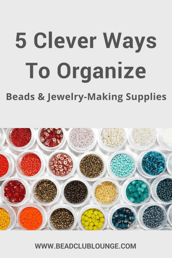 Struggle to find your beading supplies because they're completely disorganized? These simple organization ideas can help. Click here to learn how to organize your beads, tools and other jewelry-making products.