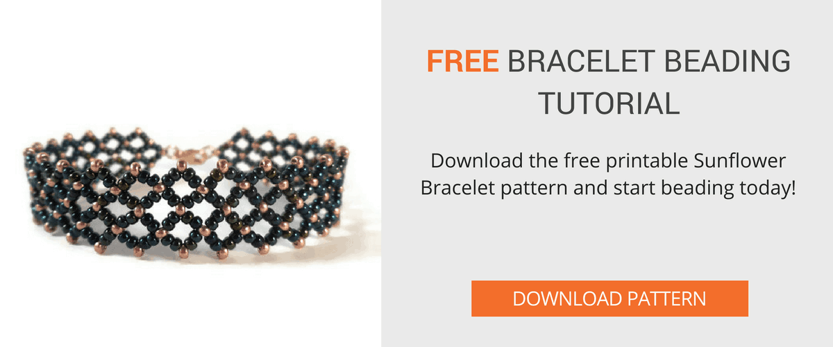 Download the free Sunflower Bracelet Pattern from The Bead Club Lounge