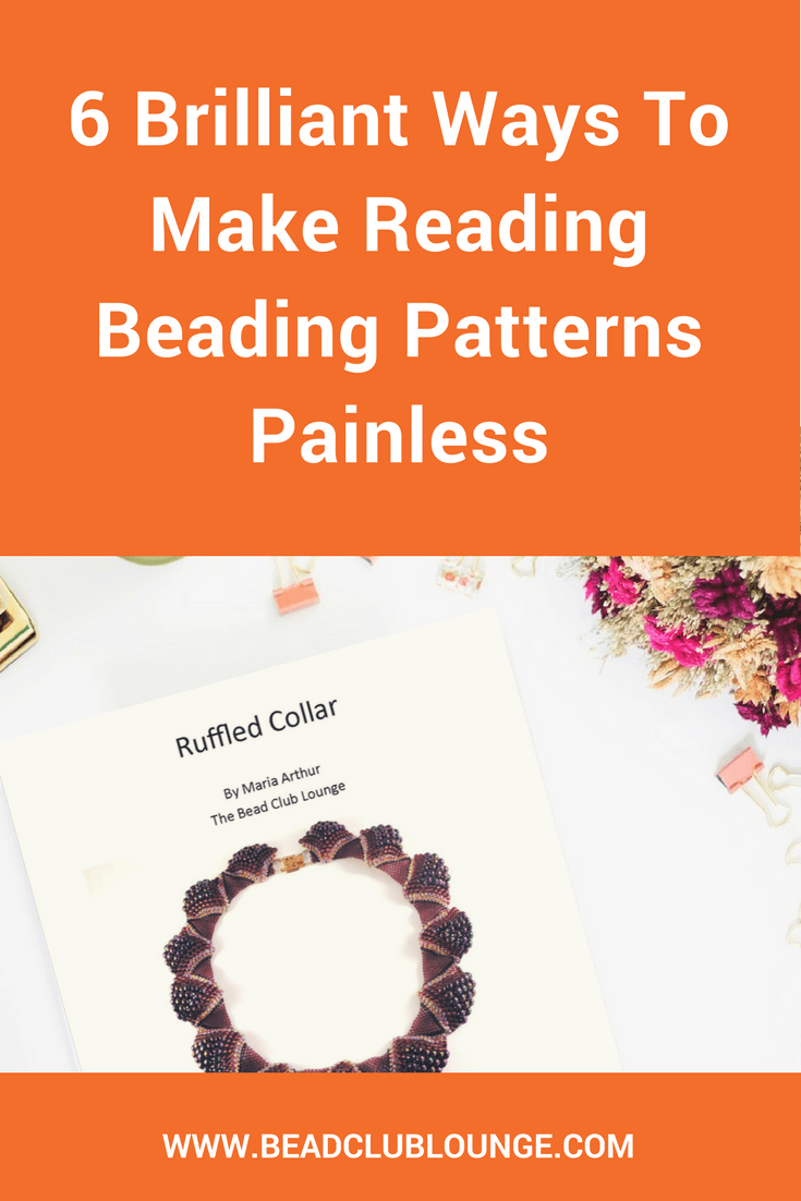 Reading beading patterns can be a challenge especially for beginners. If you struggle to understand written tutorials, use these simple tips. The next time you want to create your own DIY jewelry projects, it will be a lot easier. #beading #beadingpatterns #beadingtutorials
