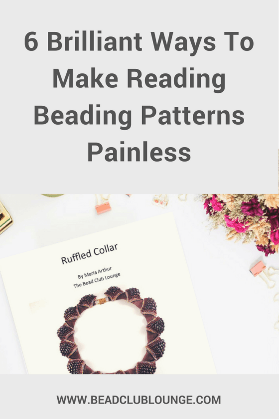 Stop struggling to read beading patterns by using these simple tips. The next time you want to create your own DIY jewelry projects, it will be a lot easier. #beading #beadingpatterns #beadingtutorials