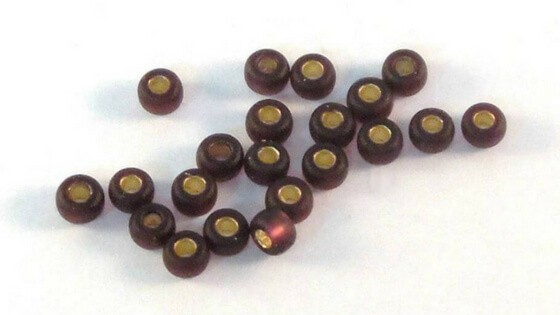 Purple seed beads