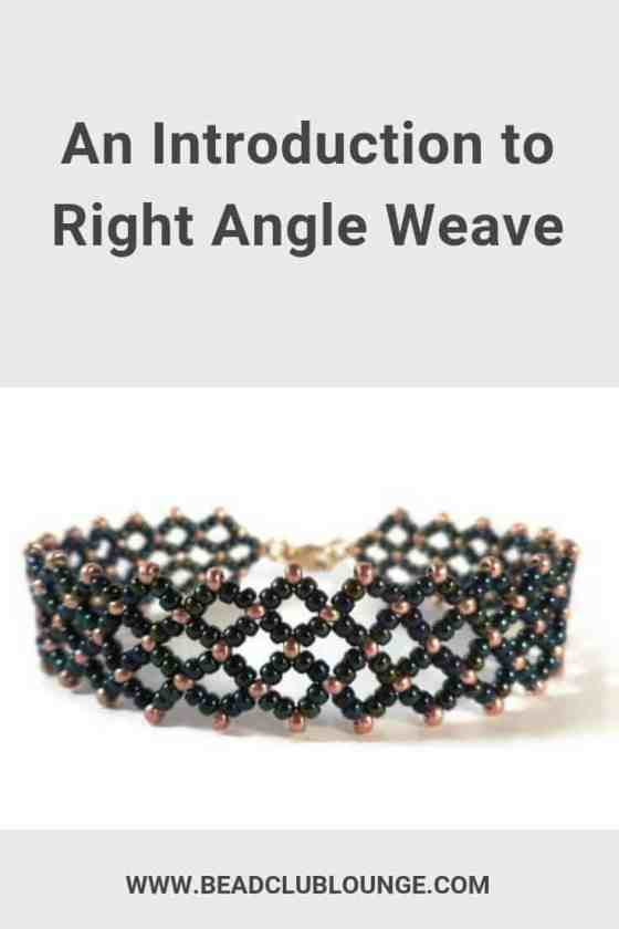 Right Angle Weave is a versatile bead-weaving stitch. You can use tutorials or design your own handmade beaded jewelry and make anything from beautiful bracelets and necklaces to earrings or even pendants. Click here to discover the many variations of this jewelry-making technique including single-needle, crossweaving, tubular, cubic and prismatic. #beads #beading #beadwork #jewelrymaking #thebeadclublounge