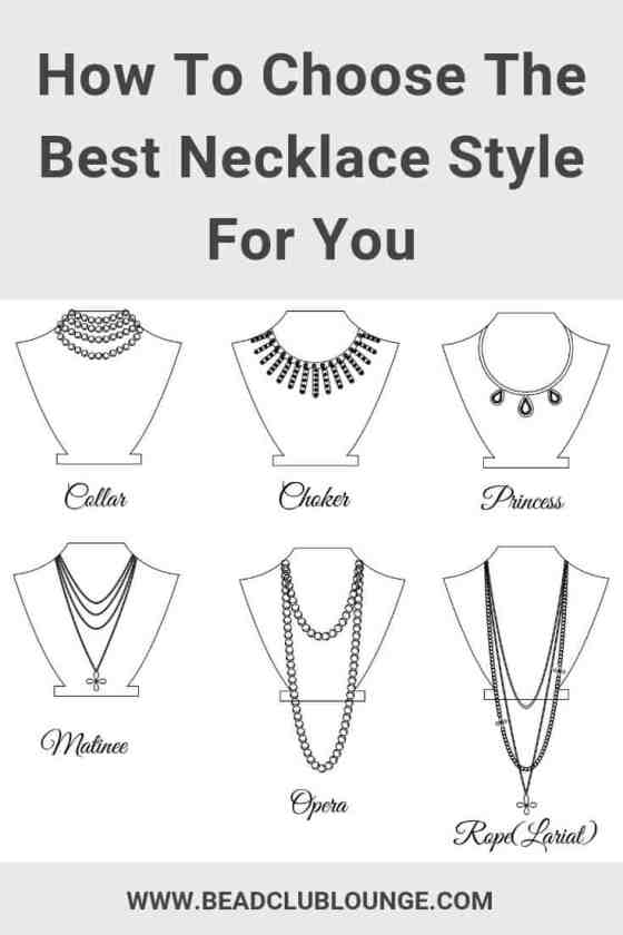 Use this simple necklace length guide to make beautiful beaded necklaces that complement the neckline of any outfit. You'll also learn which necklace style flatters your face, neck, body shape and height. Click here to discover these great tips. #beads #beading #beadwork #jewelrymaking #thebeadclublounge