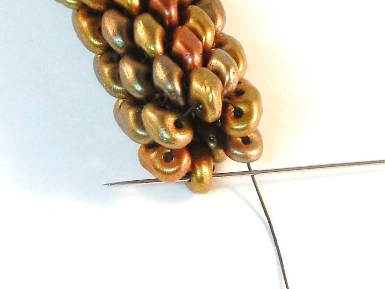 Try this Free Tubular Peyote Stitch Pattern- Snakeskin Bracelet by The Bead Club Lounge.