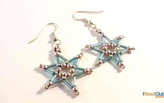 Free Beaded Star Dangle Earrings Pattern