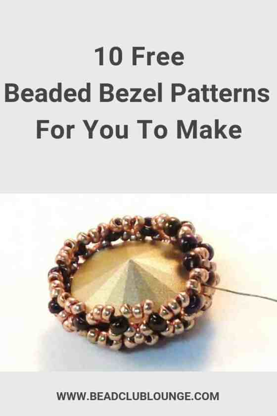 Check out this list of free beaded bezel patterns. There's a tutorial for everyone, whether you're a beginner or you've been jewelry making for years. #beading #beadweaving #bezel