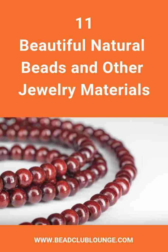 Want to add natural beads to your DIY jewelry? They come in every shape, color and size. Here are some simple and fun ideas you can use as inspiration. #beading #jewelrymaking