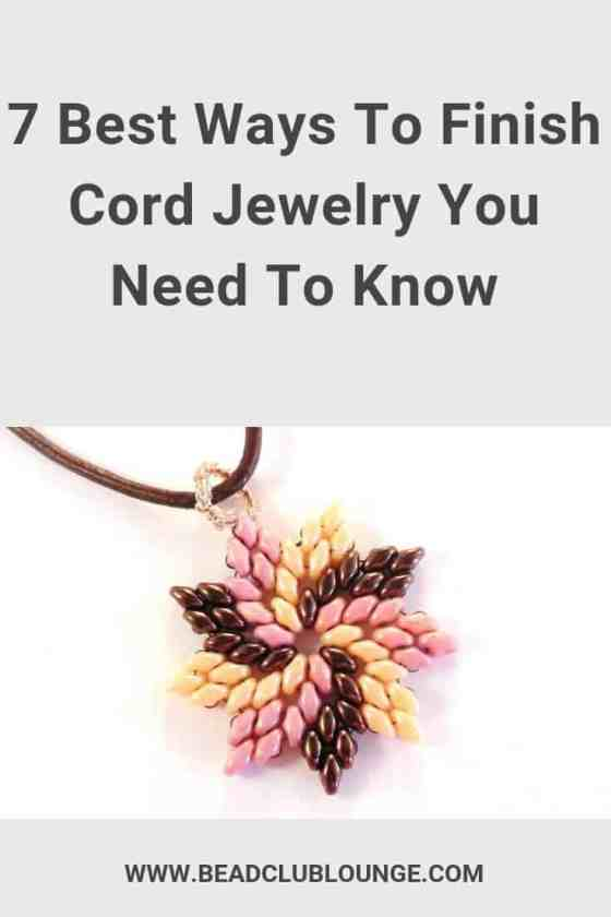 Discover simple and affordable ways to finish cord jewelry e.g. using various findings or even tying knots. #beading #jewelrymaking #tbcl