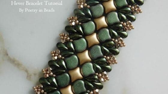 If you want WibeDuo bead patterns, here's the Hever Bracelet tutorial by Poetry in Beads.