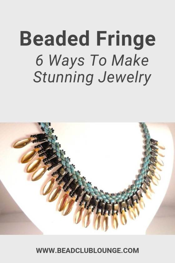 Adding beaded fringe is a simple way to dress up boring old pieces of beadwork. Explore the six different types that you can attach to jewelry. You'll discover everything you need to know: from tips on making straight fringe more interesting to how to make twisted fringe. #beading #tbcl