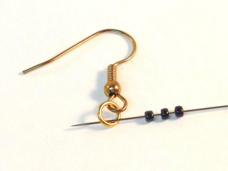 Dark Bloom Earrings Pattern - Step 18