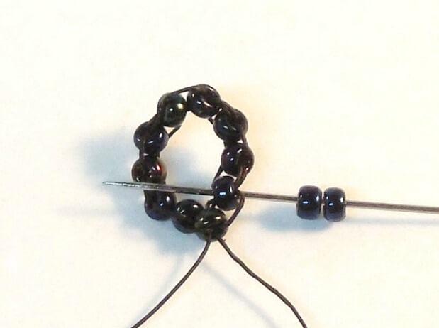 Dark Bloom Earrings Pattern - Step 3