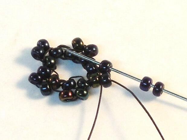 Dark Bloom Earrings Pattern - Step 6