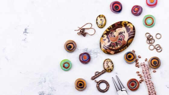 What are beads made of? These are ceramic but plenty of other materials are used.