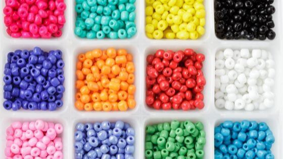 Want to know what are beads made of? These are plastic beads but there are many other types of materials..