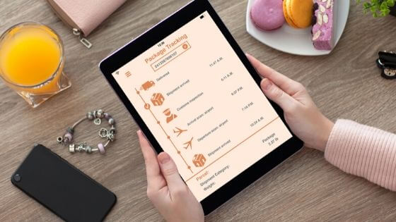 Track your package when shipping jewelry.
