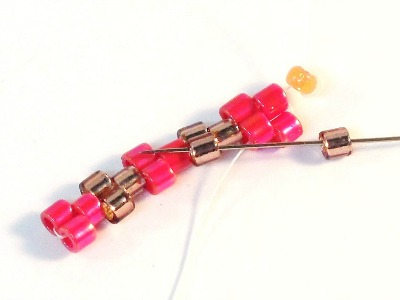 Peyote Stitch bracelet pattern Step 9