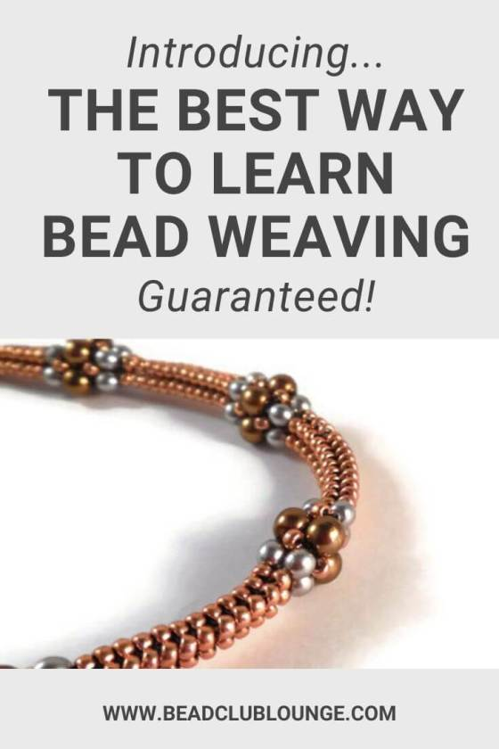 Ready to learn bead weaving without a loom? Here's the best way to learn beading, guaranteed! You'll get instant access to beading patterns for beginners and other skill levels, step-by-step video tutorials, plus full materials lists for each beadwork project. Learn jewelry-making from the comfort of your own home and on any device you choose. Click here to find out the secret to the most hassle-free way to learn how to bead with a needle. #beadweaving #jewelrymaking #tbcl