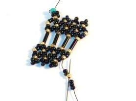 Step 21 - Free Netting Sttich seed bead bracelet pattern