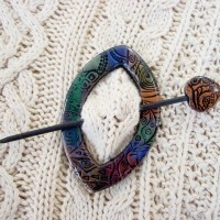 Polymer Clay Shawl Pins, Buttons and Felted Purses ...