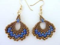 FREE beading pattern for Peyote Fan Earrings ...