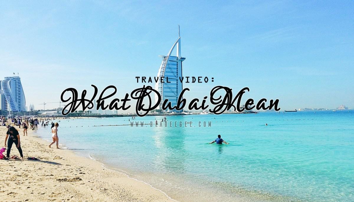 travel video dubai
