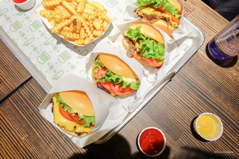Burgers and Fries of Shake Shack Gangnam Seoul