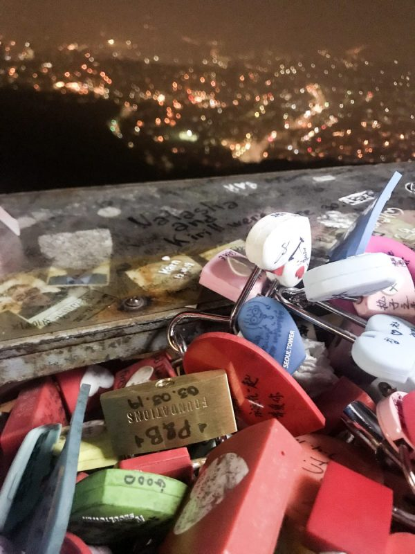 N Seoul Tower lovelocks