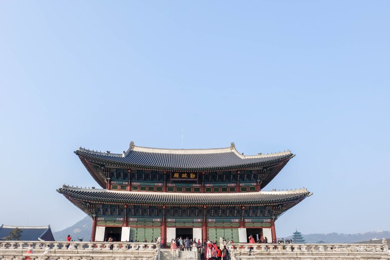 The throne room of Gyeongbokgung Palace