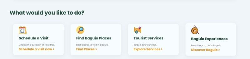 schedule a visit to Baguio City