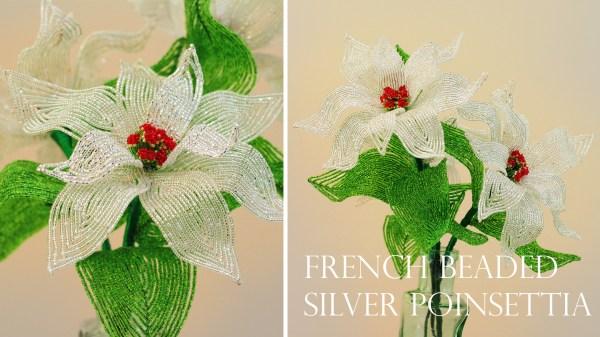 French beaded silver poinsettia pdf