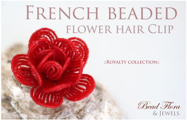 TUTORIAL - French beaded flower hair clip tutorial