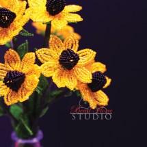 Brown eye susan by Fen Li, Bead Flora Studio