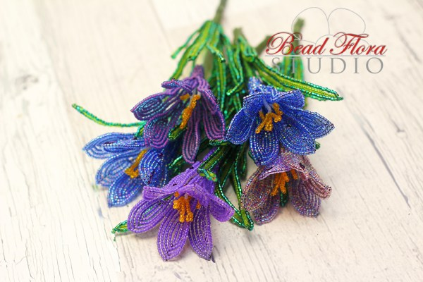 French beaded crocus pattern - pdf automatic download