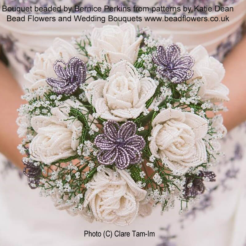 French Beaded Wedding Bouquet by Bernice Perkins