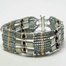 Tila Herringbone Bracelet Pattern, Katie Dean, Beadflowers