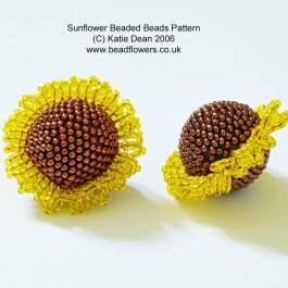 Sunflower Beaded Beads