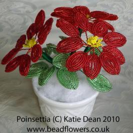 French Beaded Poinsettia