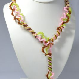 Spiralling Ribbons Necklace Pattern, Katie Dean, Beadflowers