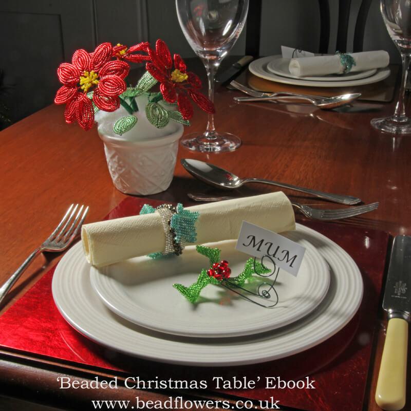 Beaded Christmas Table, Katie Dean, Beadflowers