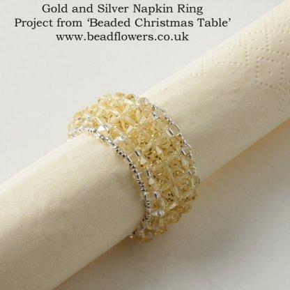 Crystal Napkin Rings, Beaded Christmas Table, Katie Dean, Beadflowers