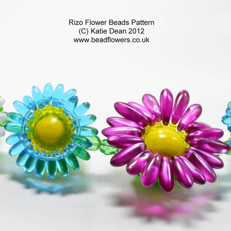 Rizo Flower Pattern for Beaded Beads