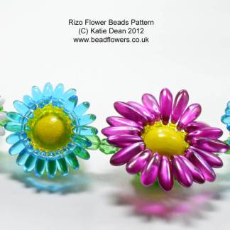 Rizo Flower Pattern for Beaded Beads