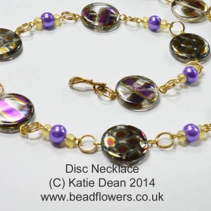 Dainty Disc Necklace or Bracelet Pattern